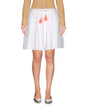 Мини-юбка GINGER+SOUL. Цвет: белый