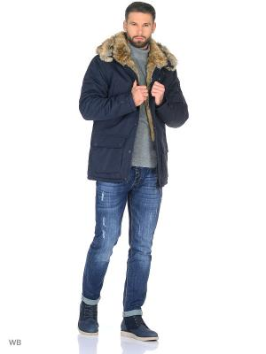 Пуховик Jan Steen. Цвет: синий