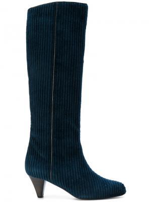 Ribbed boots Michel Vivien. Цвет: синий