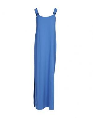 Длинное платье VANDA CATUCCI. Цвет: лазурный