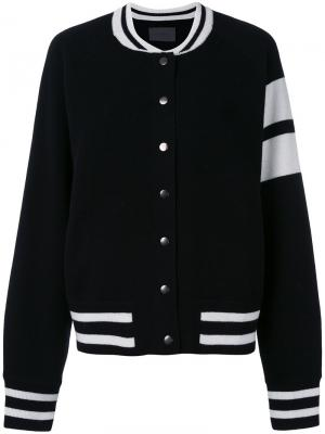 Куртка-бомбер Edison Zoe Jordan. Цвет: чёрный