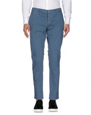 Повседневные брюки ZERO. Цвет: грифельно-синий
