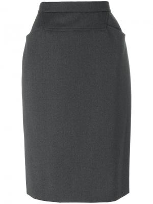 Fitted pencil skirt Chanel Vintage. Цвет: серый