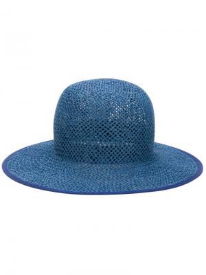 Широкополая шляпа Ursula Minimarket. Цвет: синий
