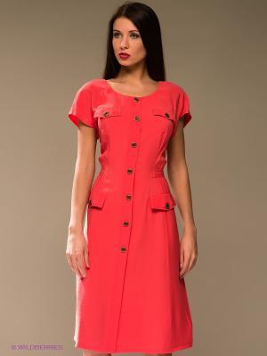 Платье KEY FASHION. Цвет: розовый