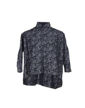 Джинсовая рубашка ETICHETTA 35. Цвет: темно-синий