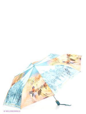 Зонт Zest. Цвет: голубой, светло-бежевый