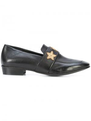 Star loafers Chuckies New York. Цвет: чёрный