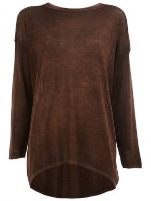 Удлиненный джемпер Avant Toi. Цвет: коричневый