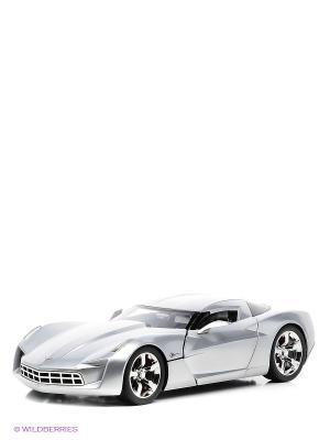 Автомобиль 2009 Corvette Stingray Concept - Glossy Sillver Jada. Цвет: серебристый
