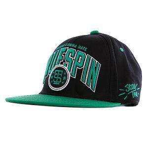 Бейсболка True Spin Spin-2 Black/Green TrueSpin. Цвет: зеленый,черный