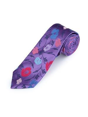 Галстук Poppy Garden Jewel Duchamp. Цвет: лазурный, антрацитовый, бледно-розовый, малиновый, светло-голубой, светло-коралловый