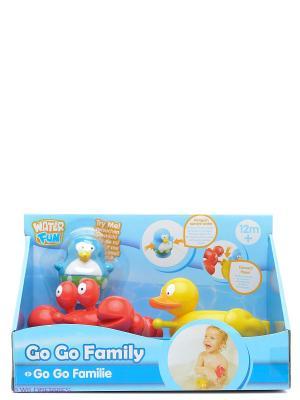 Набор для ванны Веселые друзья утка и краб Toy Target. Цвет: голубой