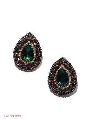 Серьги Lovely Jewelry. Цвет: бронзовый, прозрачный, зеленый, бордовый, серебристый