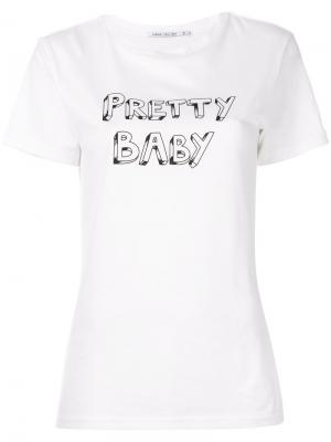 Футболка  x J Brand Pretty Baby Bella Freud. Цвет: белый