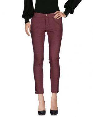 Повседневные брюки NO LAB. Цвет: красно-коричневый