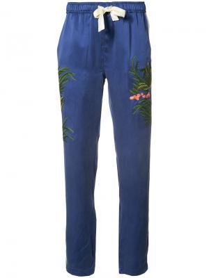 Спортивные брюки Aube Maharishi. Цвет: синий