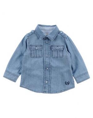 Джинсовая рубашка AMORE. Цвет: синий