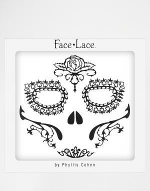 Facelace Украшения для лица на Хэллоуин Face Lace Day of the Dead Rosa. Цвет: роза