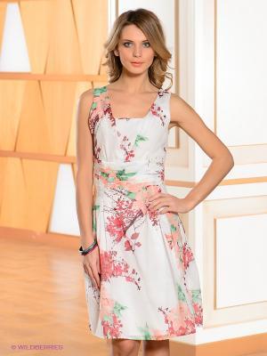 Платье Bandolera. Цвет: белый, бледно-розовый