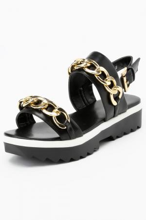 Туфли летние открытые RIDLSTEP. Цвет: черный