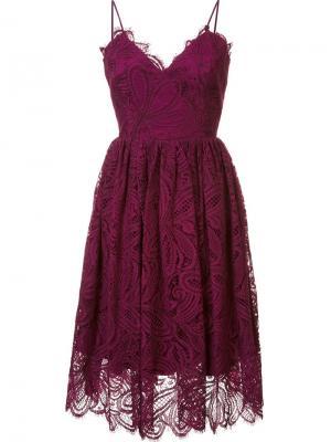 Кружевное платье Viola Zac Posen. Цвет: красный