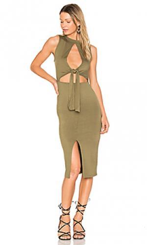 Платье regan Clayton. Цвет: оливковый