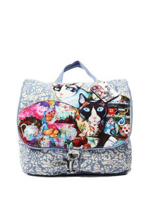 Рюкзак хлопок с декор. Отделкой ГАНГ. Цвет: голубой