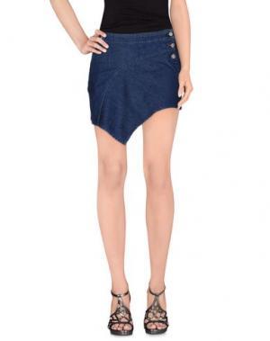 Джинсовая юбка ANTHONY VACCARELLO NOIR. Цвет: синий