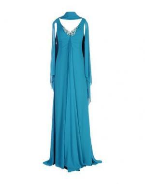 Длинное платье MUSANI COUTURE. Цвет: цвет морской волны