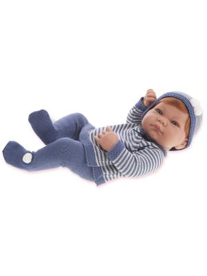 Кукла-младенец Мануэль, 42 см. Antonio Juan. Цвет: серый