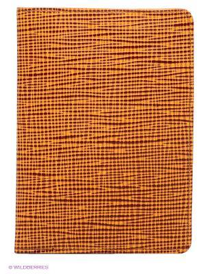 Обложка для паспорта D'Angeny. Цвет: коричневый, желтый