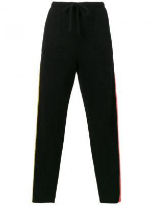 Зауженные спортивные брюки The Elder Statesman. Цвет: чёрный