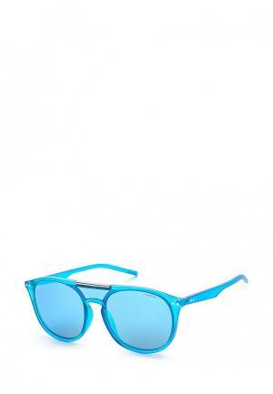 Очки солнцезащитные Polaroid. Цвет: голубой