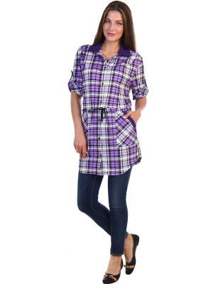 Рубашка Vilana. Цвет: фиолетовый