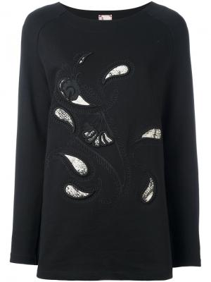 Толстовка с вышивкой пейсли Antonio Marras. Цвет: чёрный