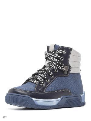 Ботинки San Marko. Цвет: светло-голубой, синий