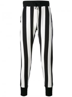 Полосатые брюки скинни Unconditional. Цвет: чёрный