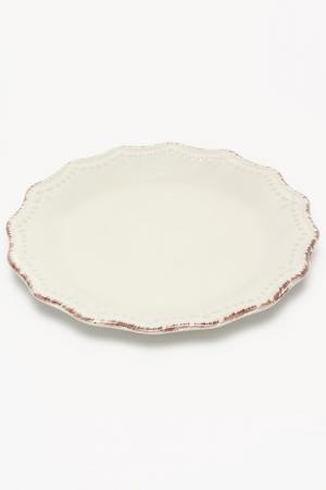 Тарелка десертная Айвори 21 см H&H. Цвет: белый
