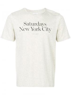 Футболка Miller Saturdays Nyc. Цвет: серый