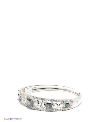 Браслет Lovely Jewelry. Цвет: серебристый, зеленый