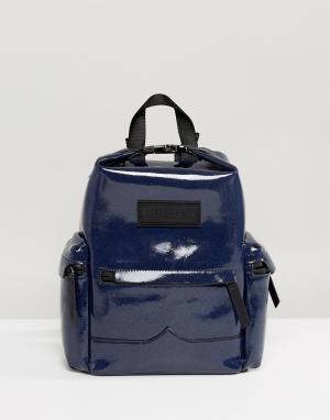 Hunter Кожаный мини-рюкзак Original Aurora Borealia. Цвет: темно-синий