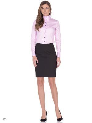 Рубашка женская манжет под запонки WHITE CUFF. Цвет: розовый