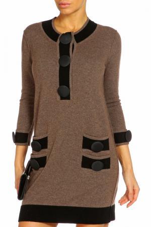 Платье ZHOR&NEMA. Цвет: коричневый, черный