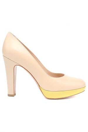 Туфли закрытые Rita Eliseo. Цвет: бежевый, лимонный