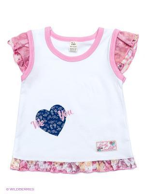 Майка Lucky Child. Цвет: розовый, молочный