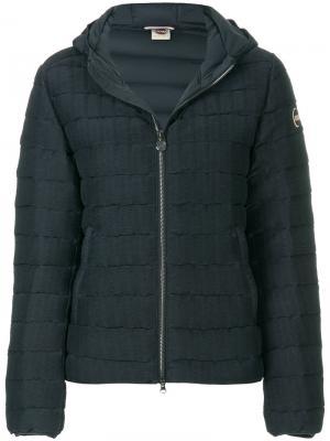 Дутая куртка с капюшоном Colmar. Цвет: синий