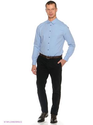 Рубашка INCITY. Цвет: синий