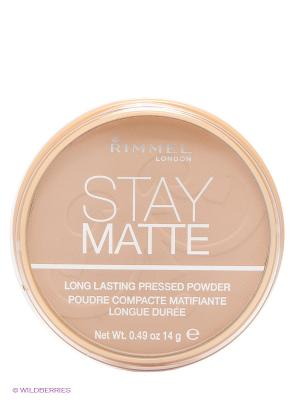 Cпресованная пудра Stay Matte  Re-pack 004 тон (sandstorm) Rimmel. Цвет: бежевый