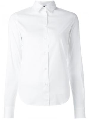 Рубашка кроя слим Aspesi. Цвет: белый